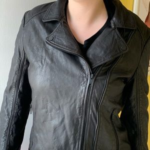 DKNY lambskin leather jacket Brand new fits small
